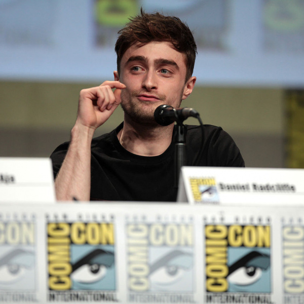 Daniel Radcliffe speaking at the 2014 San Diego Comic Con